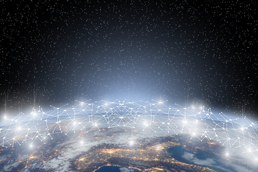 International Network over the Earth